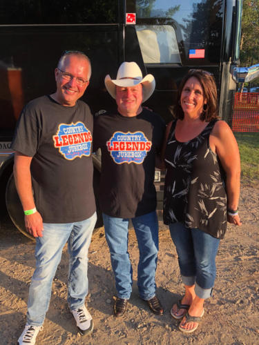 My wife Jeannie and myself Mark Chesnutt.